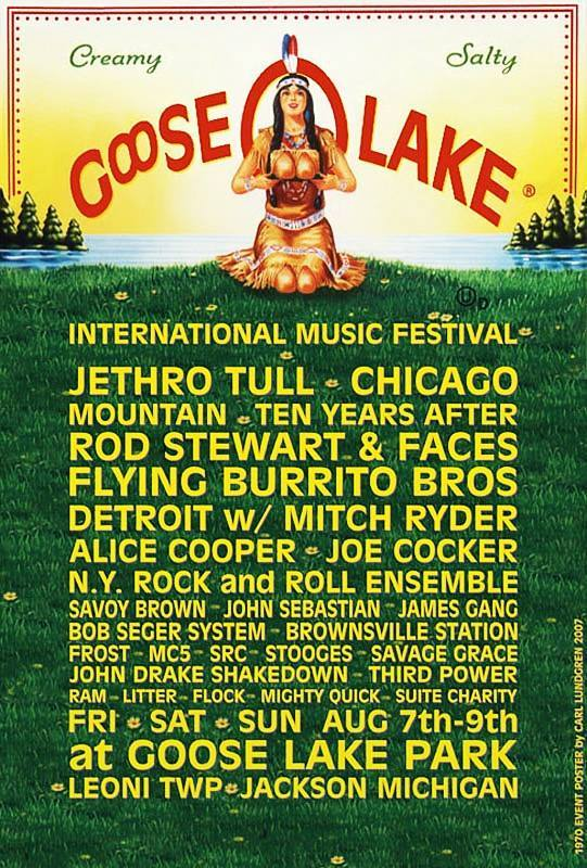 Cool 1960s 70s Midwest Rock Music Festival Posters
