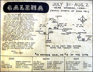 An original handbill shows a map of how to get to the festival site just outside of Wadena.RICK CHASE / Courier Staff Photographer